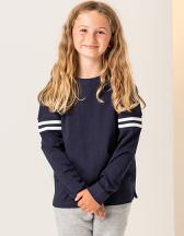 Kids` Drop Shoulder Slogan Top