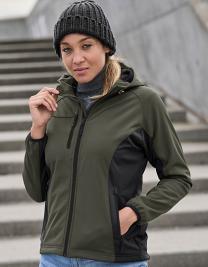 Ladies Hooded Lightweight Performance Softshell Jacket